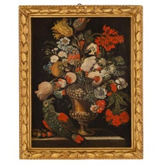 Italian 17th Century Still Life Oil on Canvas from Rome