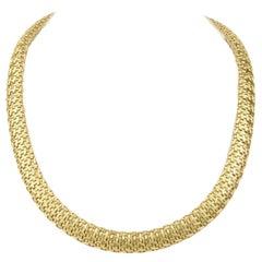 Italian 18 Karat Woven Necklace
