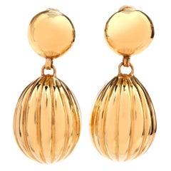 Italian 18 Karat Yellow Gold Balloon Dangle Drop Earrings