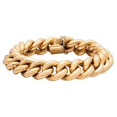 Italian 18k Gold Curb Link Bracelet