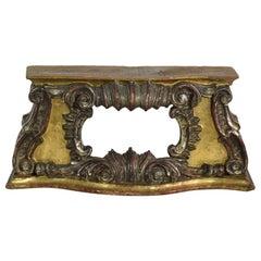 Italian 18th Century Baroque Gilded Pedestal or Reliquary Shrine