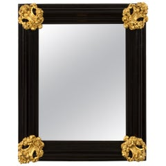 Italian 18th Century Baroque Period Florentine Rectangular Mirror