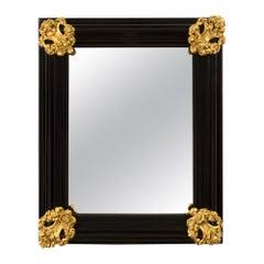 Italian 18th Century Baroque Period Florentine Rectangular Mirror