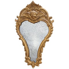 Italian 18th Century Carved and Giltwood Mirror