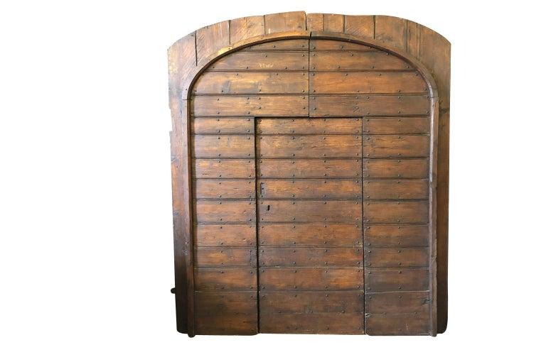 Iron Italian 18th Century Entry Doors For Sale