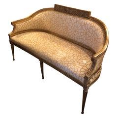 Italian 18th Century Gilded Settee Sofa