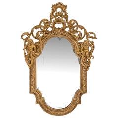 Italian 18th Century Giltwood Mirror