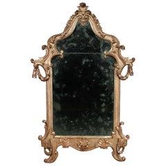 Italian 18th Century Louis XV Period Carved Mecca Mirror