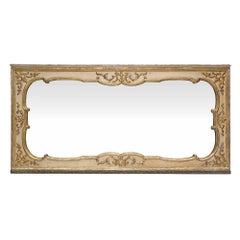 Italian 18th Century Louis XV Period Patinated and Mecca Mirror