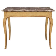Italian 18th Century Louis XV Period Patinated Side Table