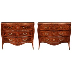 Italian 18th Century Louis XV Period Walnut Commodes