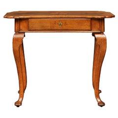 Italian 18th Century Louis XV Period Walnut Side Table from the Veneto Region