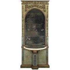 Italian 18th Century Louis XVI Period Console from an Italian Carpenteria