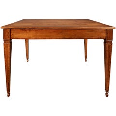 Italian 18th Century Louis XVI Period Country Walnut Square Center Table