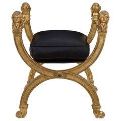 Italian 18th Century Louis XVI Period Giltwood Bench