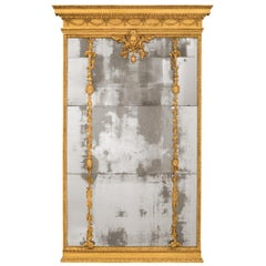 Italian 18th Century Louis XVI Period Giltwood Mirror