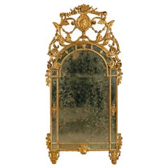 Italian 18th Century Louis XVI Period Mecca Mirror