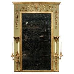 Italian 18th Century Louis XVI Period Patinated Trumeau