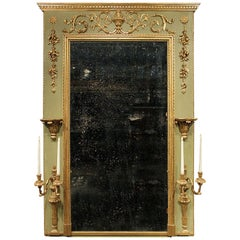 Italian 18th Century Louis XVI Period Patinated Trumeau