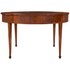 Italian 18th Century Louis XVI Period Tuscan Walnut and Maple Center Table