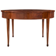 Italian 18th Century Louis XVI Period Tuscan Walnut and Maple Center Table