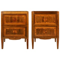 Italian 18th century Louis XVI period walnut chests