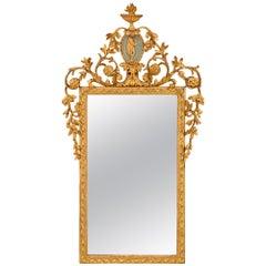 Italian 18th Century Louis XVI St. Giltwood Mirror