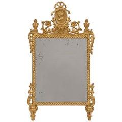 Italian 18th Century Louis XVI Style Giltwood Mirror