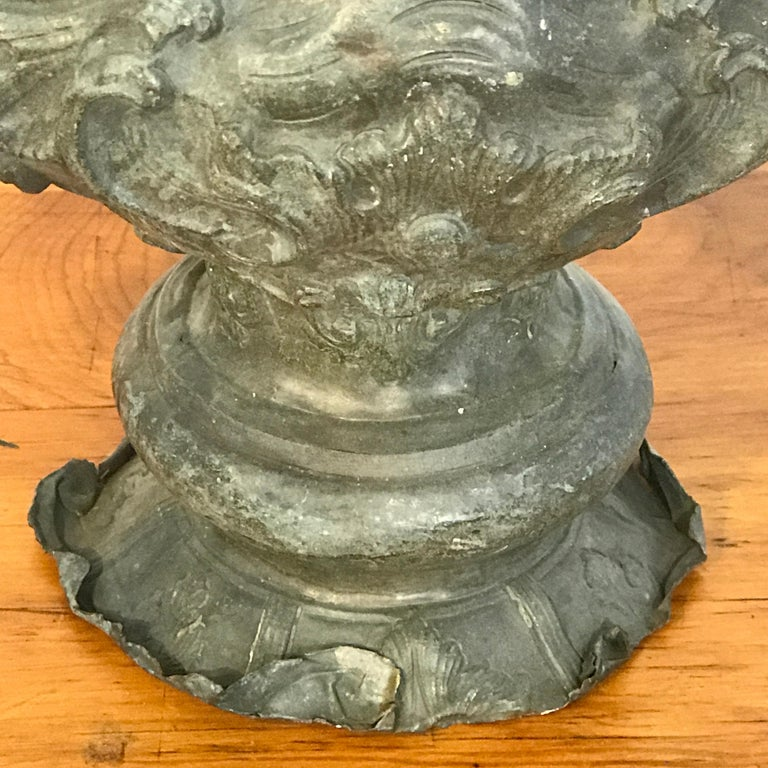 Italian 18th Century Mounted Fragment of a Copper Sanctuary Font For Sale 4