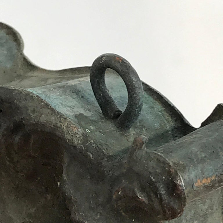 Italian 18th Century Mounted Fragment of a Copper Sanctuary Font For Sale 11