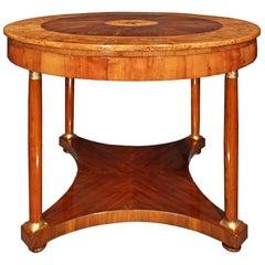 Italian 18th Century Neoclassical St. Walnut and Ormolu Center Table