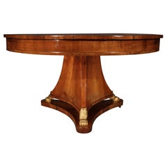 Italian 18th Century Neoclassical Walnut and Giltwood Center Table