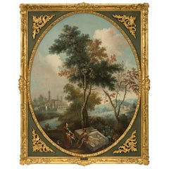 Italian 18th Century Neoclassical Period Oil on Canvas Painting