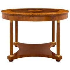 Italian 18th Century Neoclassical Style Walnut and Ormolu Center Table