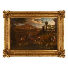 Italian 18th Century Oil on Canvas Painting