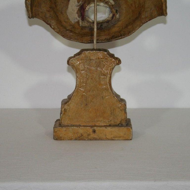 Italian 18th Century Papier Mâché Reliquary Bust For Sale 9
