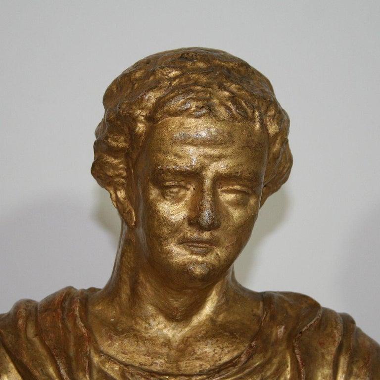 Italian 18th Century Papier Mâché Reliquary Bust For Sale 10
