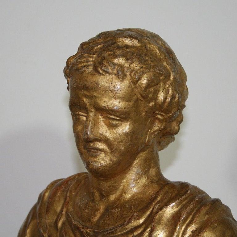 Italian 18th Century Papier Mâché Reliquary Bust For Sale 11