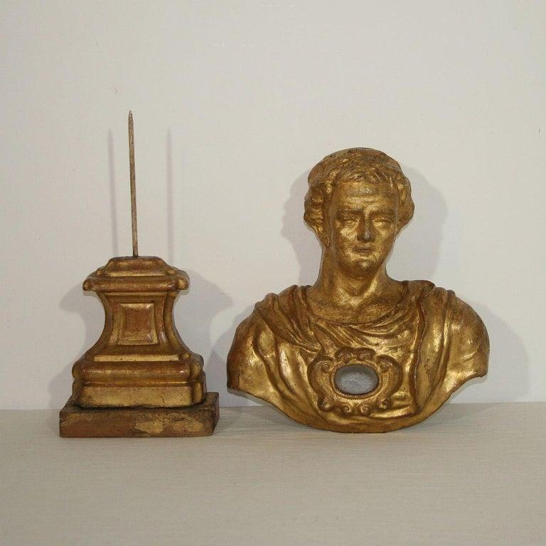 Italian 18th Century Papier Mâché Reliquary Bust For Sale 17