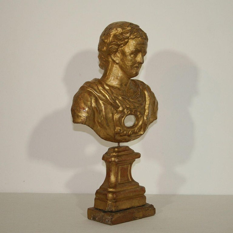 Italian 18th Century Papier Mâché Reliquary Bust In Good Condition For Sale In Amsterdam, NL
