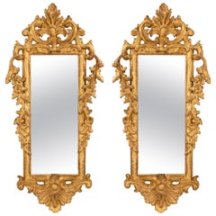 Italian 18th Century Rococo Style Giltwood Mirrors