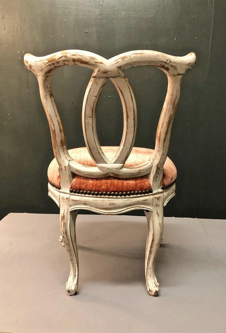 Rococo Italian 18th Century Slipper Chair For Sale