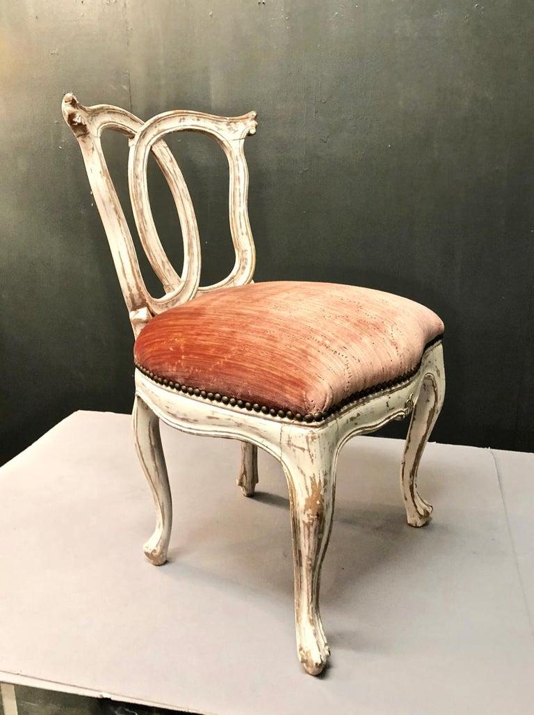 Italian 18th Century Slipper Chair For Sale 1