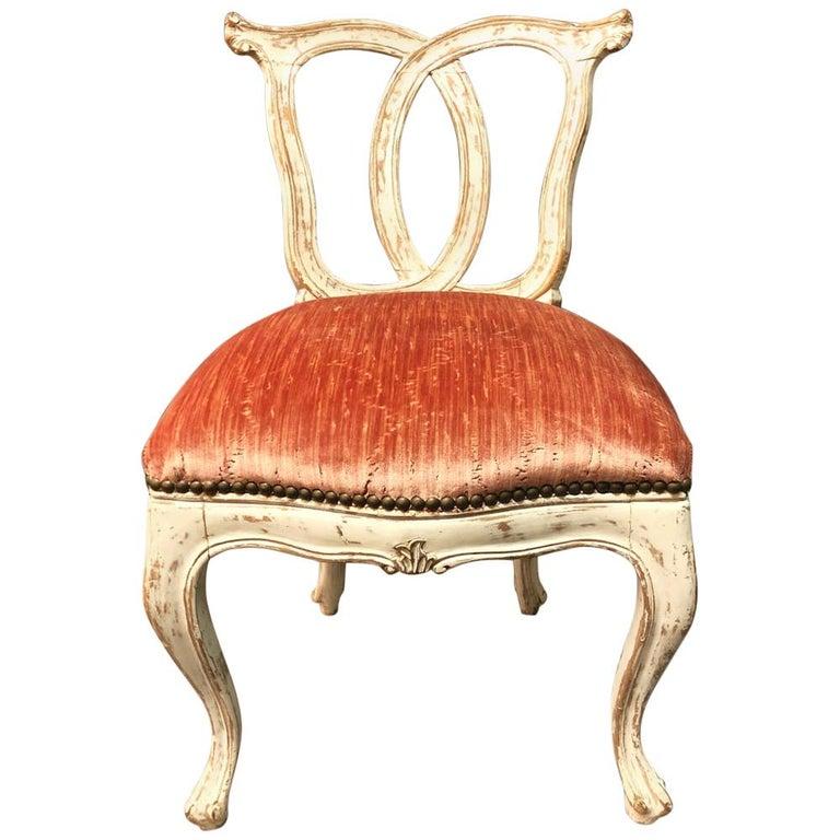 Italian 18th Century Slipper Chair For Sale