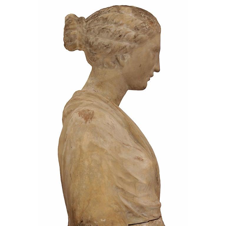 Italian 18th Century Terracotta Statue For Sale 1