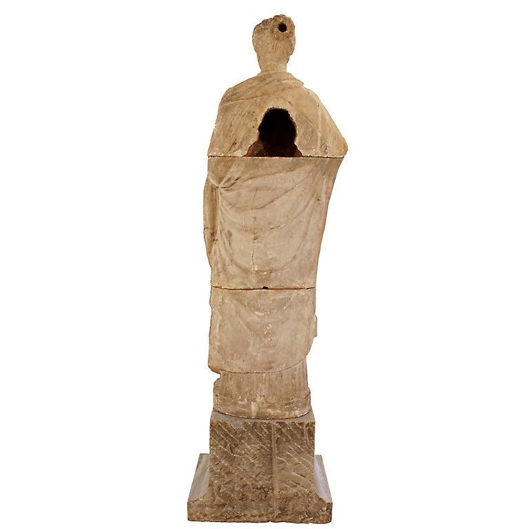 Italian 18th Century Terracotta Statue For Sale 2