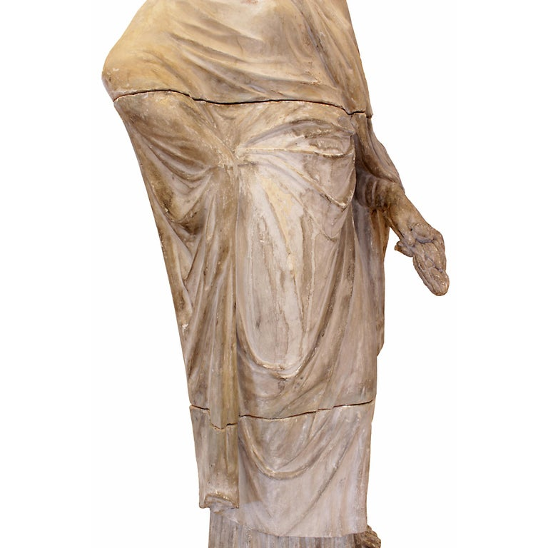 Italian 18th Century Terracotta Statue For Sale 3