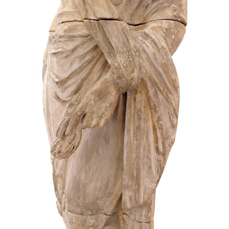 Italian 18th Century Terracotta Statue For Sale 4