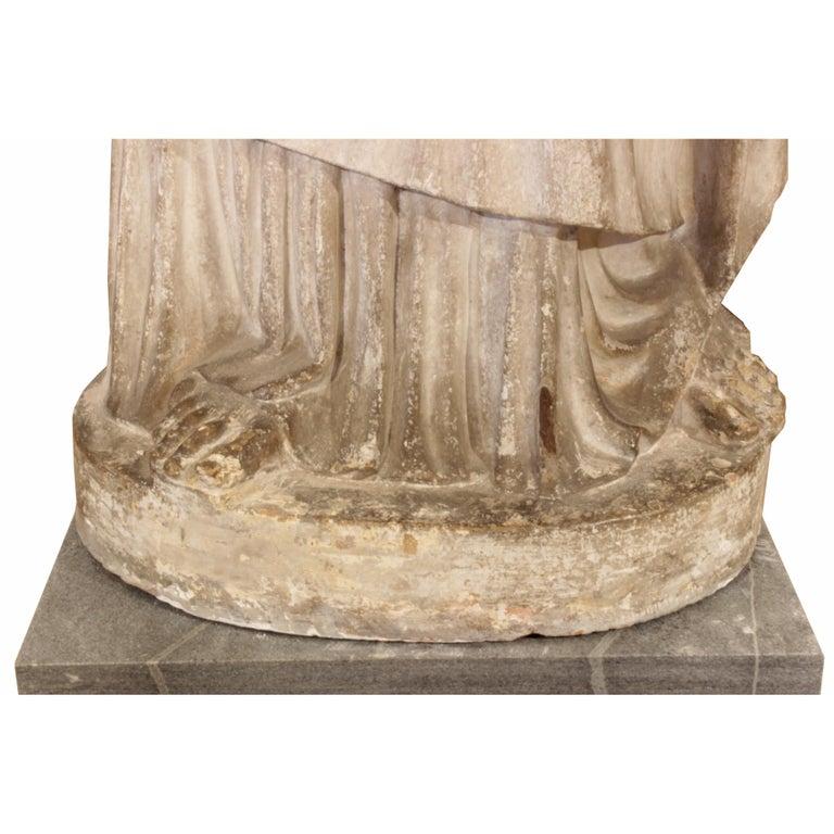 Italian 18th Century Terracotta Statue For Sale 5