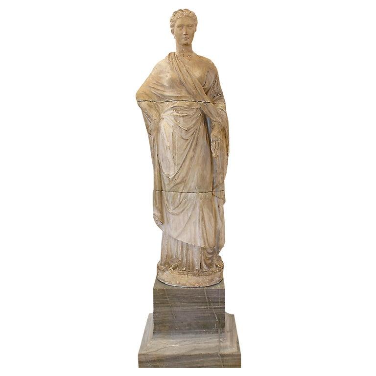 Italian 18th Century Terracotta Statue For Sale